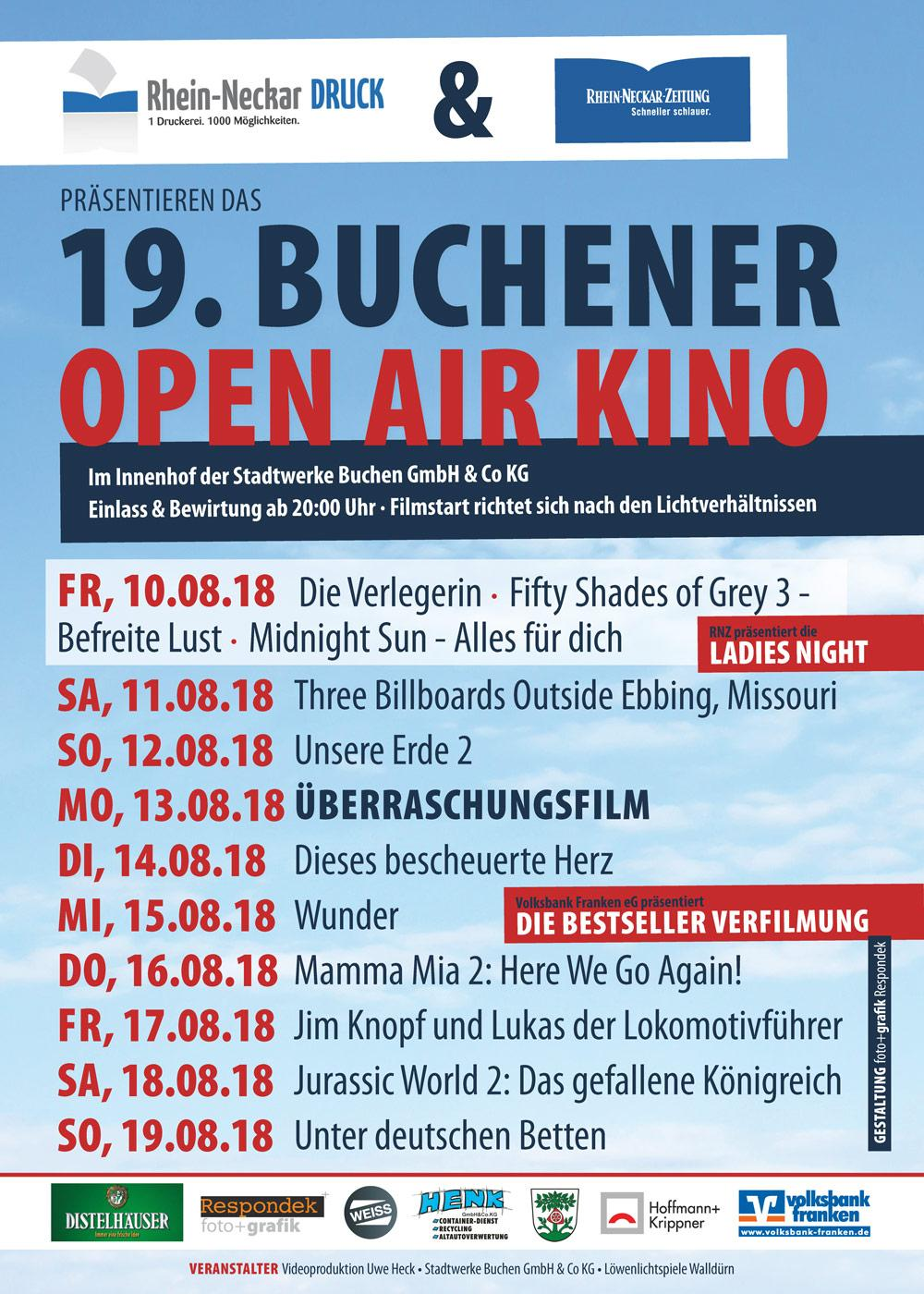 open air kino plakat 2018